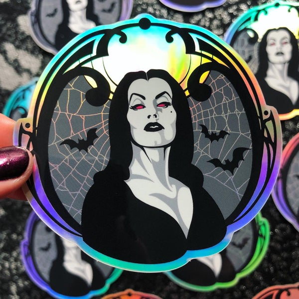 Image of VAMPIRA Holographic Vinyl Sticker
