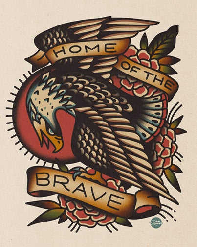 Image of Home Of The Brave - Print