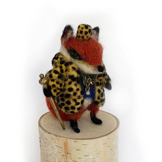 Image of Fox Pimp (Wool Sculpt)