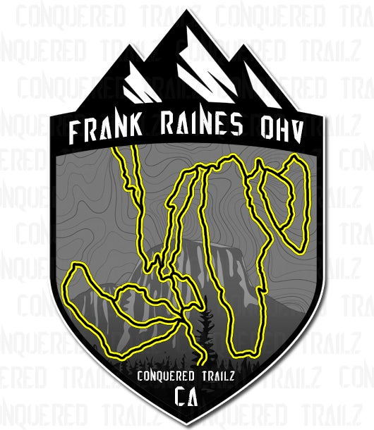 """Image of """"Frank Raines OHV"""" Trail Badge"""
