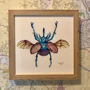 Image 1 of Framed Rhinoceros Beetle Print