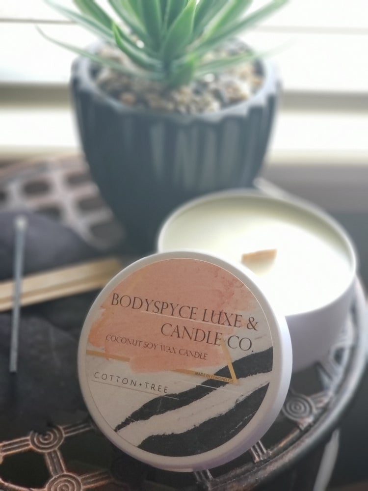 Image of COTTON + TREE +  COCONUT SOY WAX + CANDLE