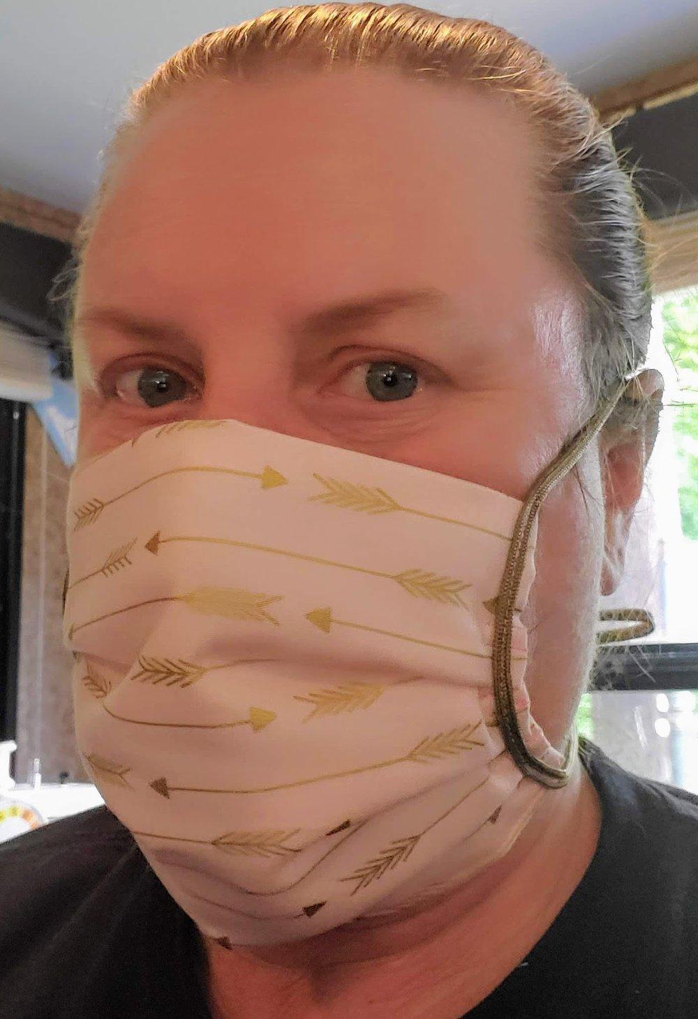 Golden Arrows - Hand Sewn Designer Face Mask
