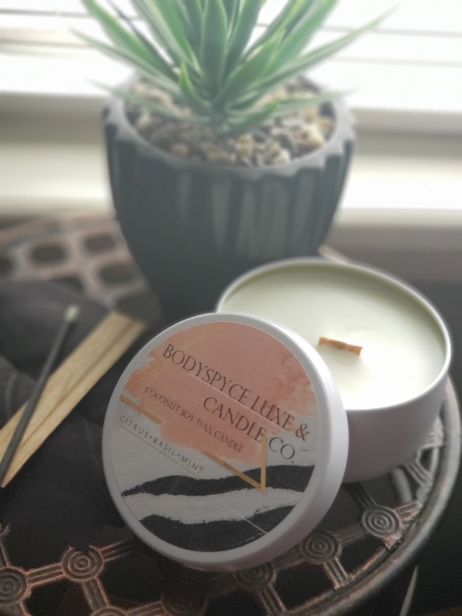 Image of CITRUS + BASIL + MINT + COCONUT SOY WAX + CANDLE