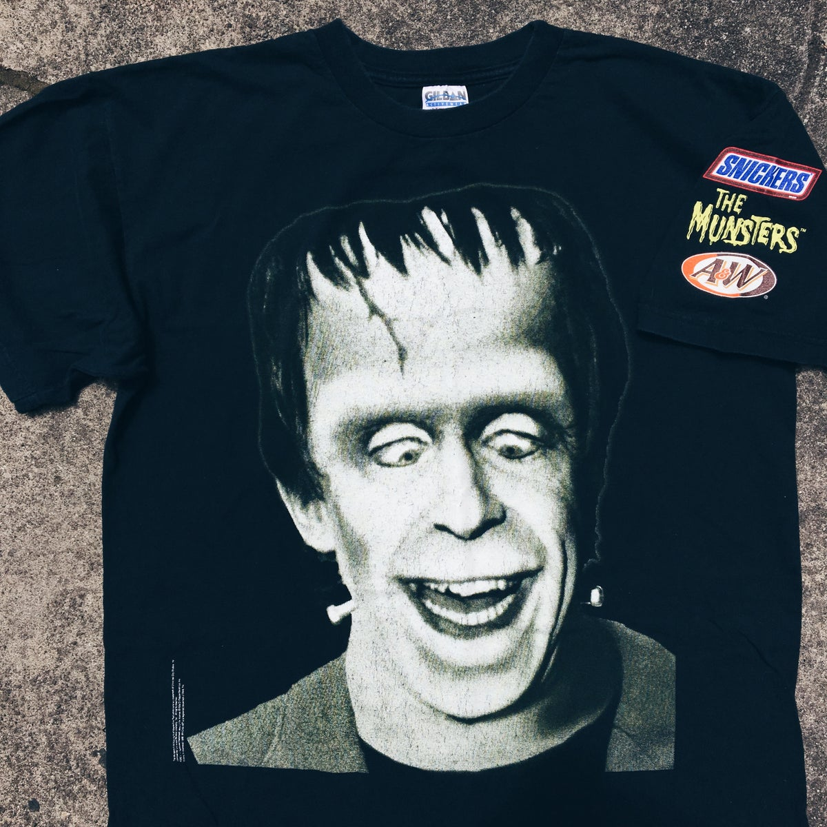 Image of Original 1998 The Munsters Snickers Promo Tee.