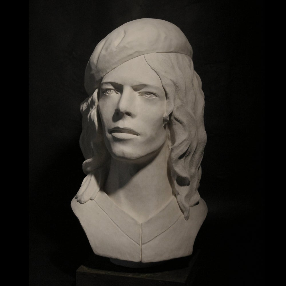 The Man Who Sold The World (White Clay Full Head Sculpture)