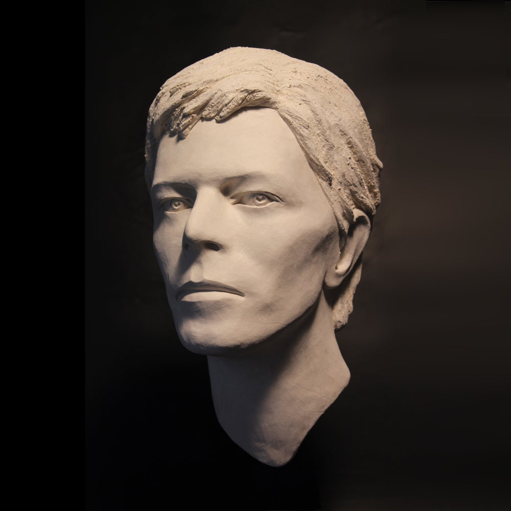 'Heroes' White Clay (Face Sculpture)