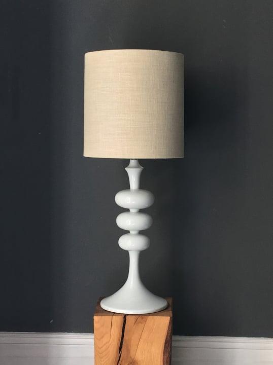 "Image of ""TV Tower"" Lamp Base of White Ceramic"
