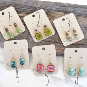Czech Glass Beaded Earrings