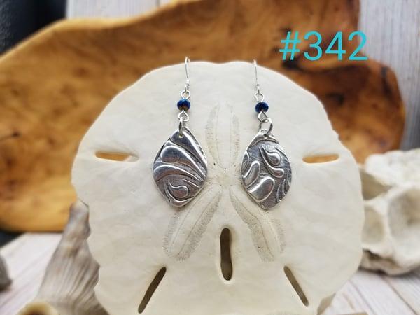 Image of Handmade- Fine Silver- Earnings- #342