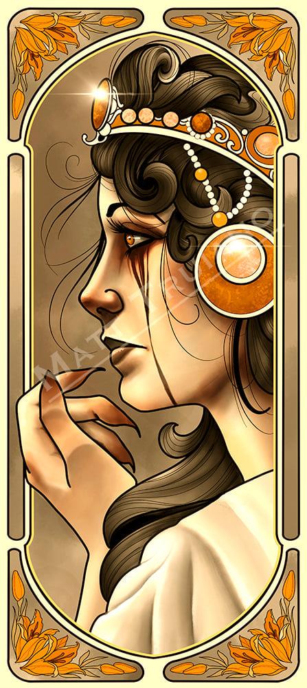 Lady Nouveau IV (mismatch color profile)
