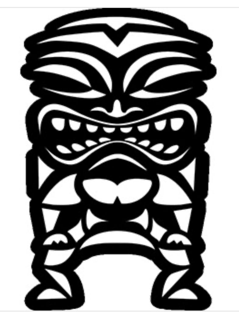 "Image of Big 7x10"" Tiki Sticker"