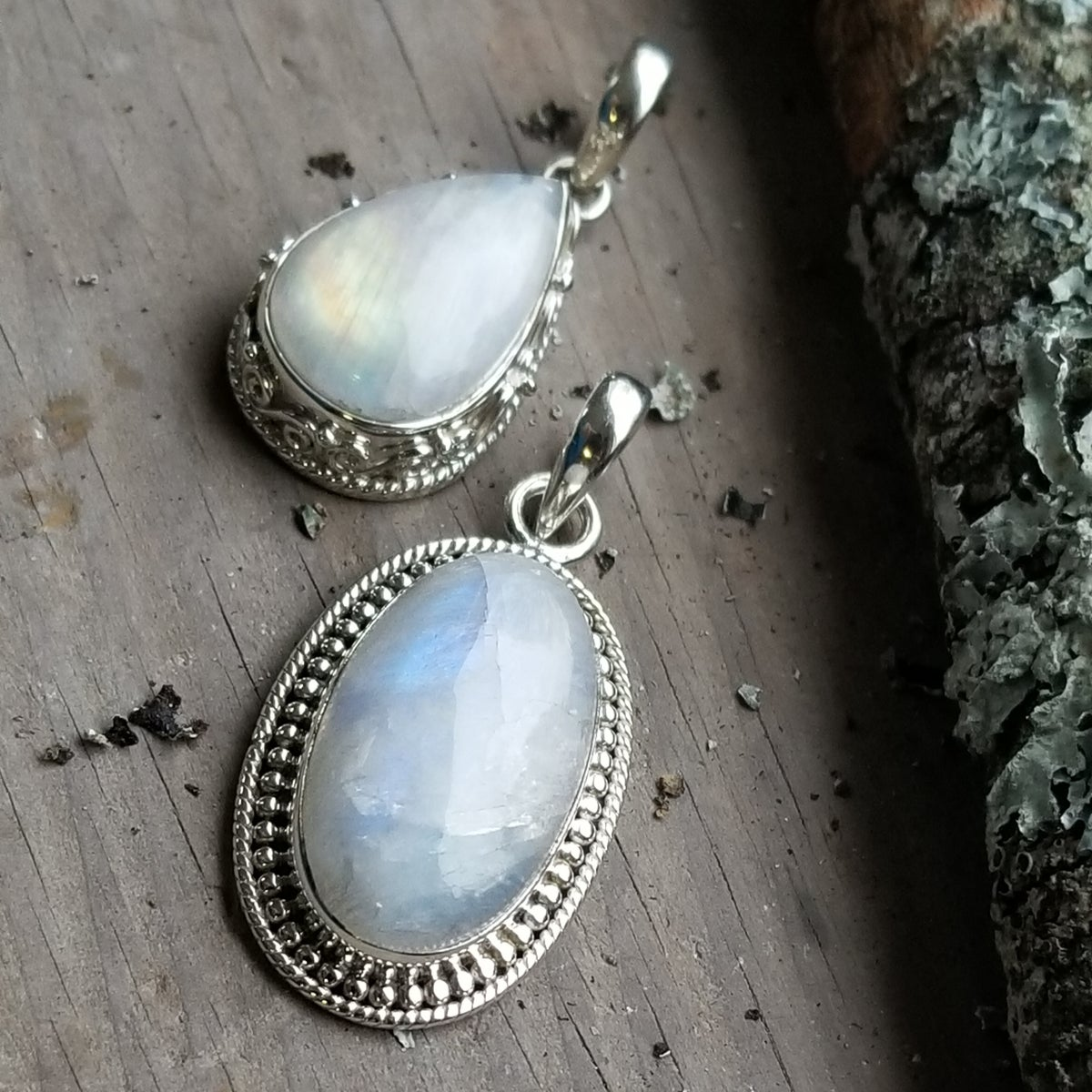 Image of Anna Pendants - Moonstone in Sterling