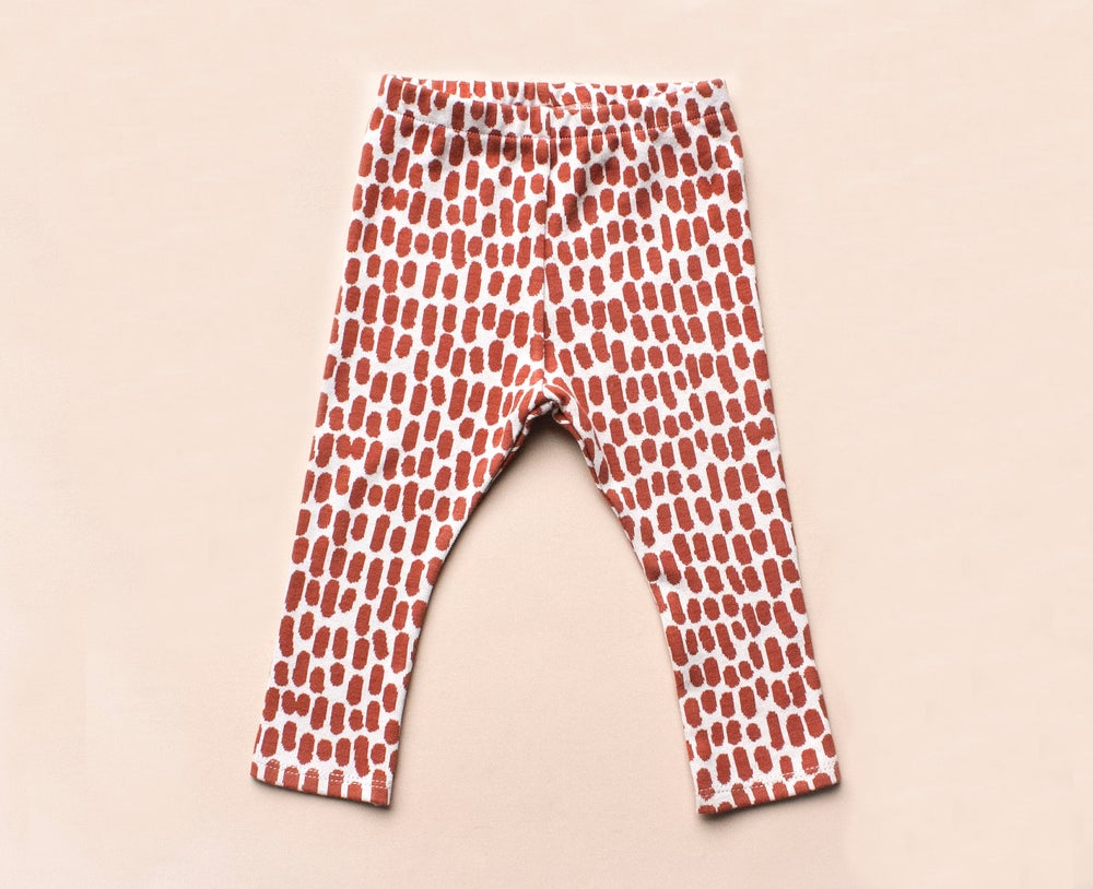 Image of organic cotton jaquard leggings