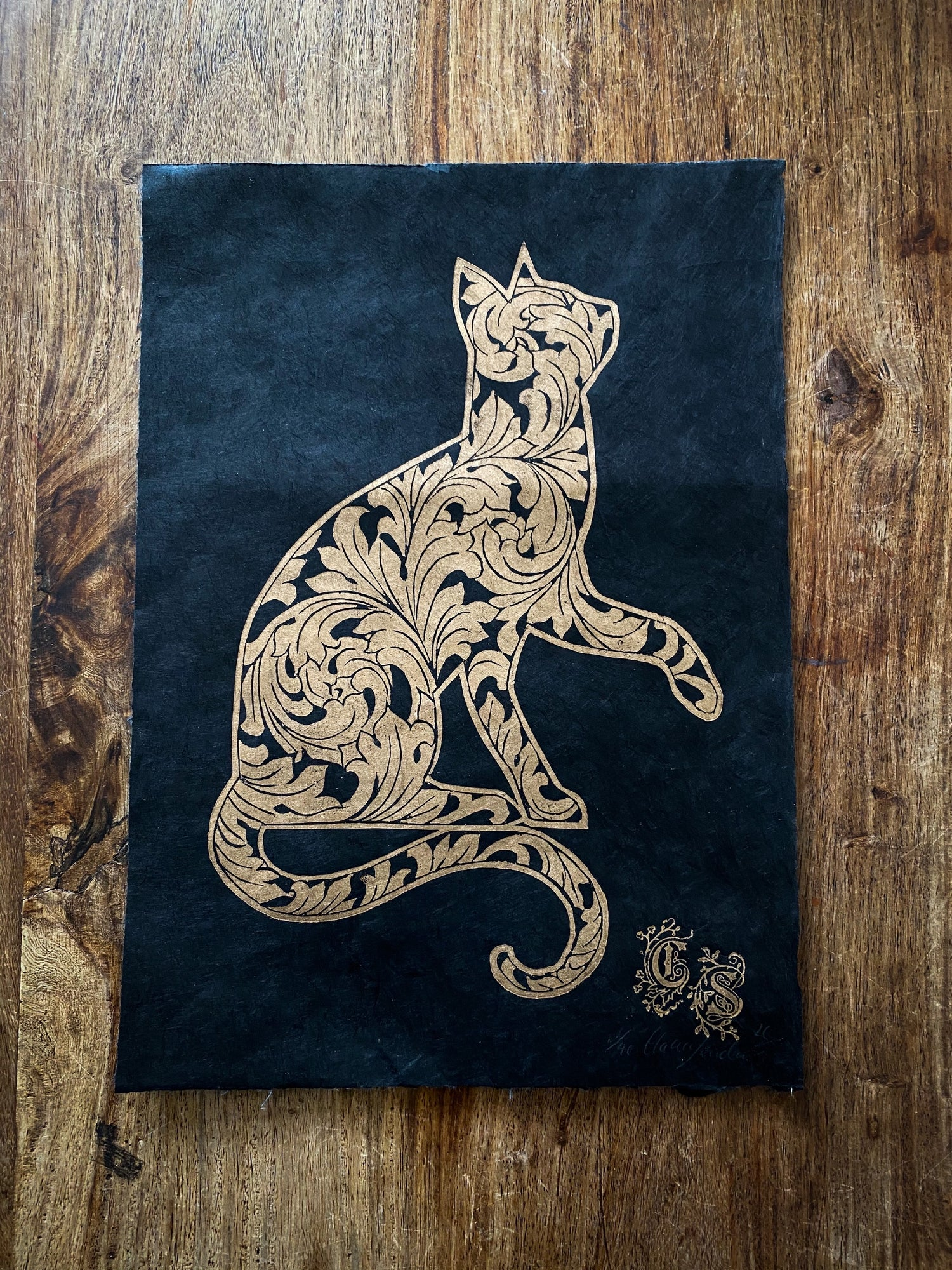 Image of Ornate Cat II Gold Edition