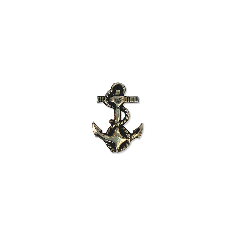 Image of Vintage Silver Anchor Pin