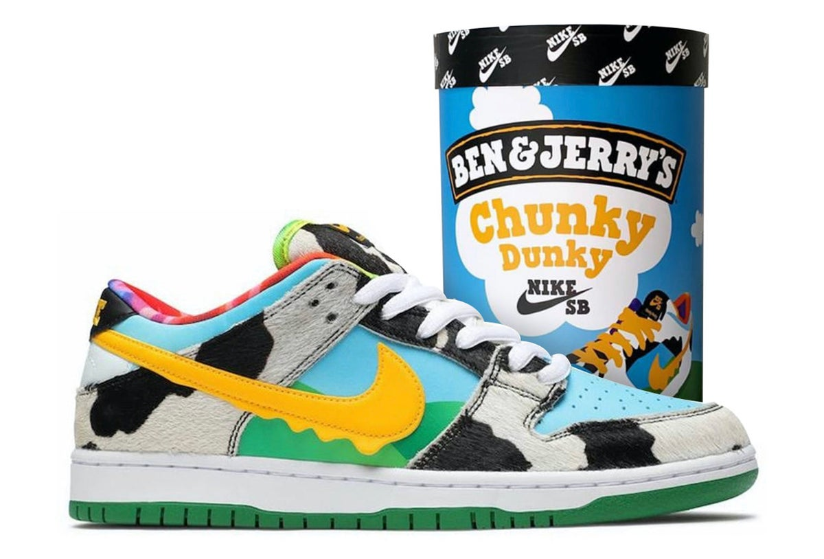 Image of Nike Sb Dunk Low Ben & Jerry Chunky Dunky F&F packing