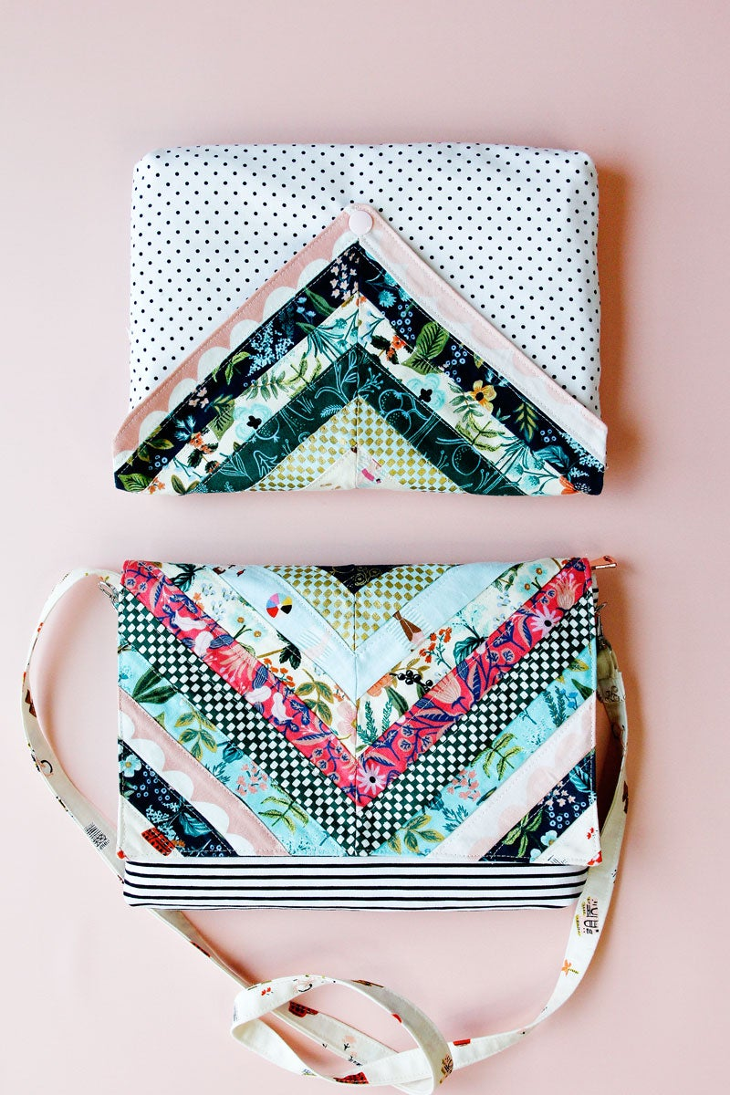 Image of the quilted CHLOE CLUTCH PDF pattern