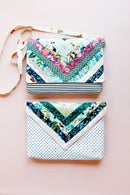 Image 3 of the quilted CHLOE CLUTCH PDF pattern