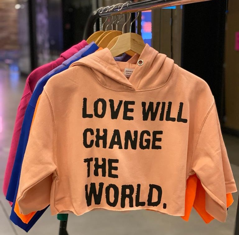 "Image of ""Love Will Change The World"" Crop Top"