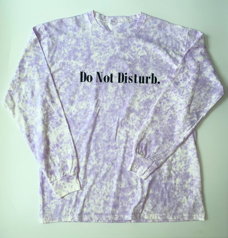 "Image of Tie Dye Do Not Disturb Long Sleeve T-Shirt ""Lavender Splash"""