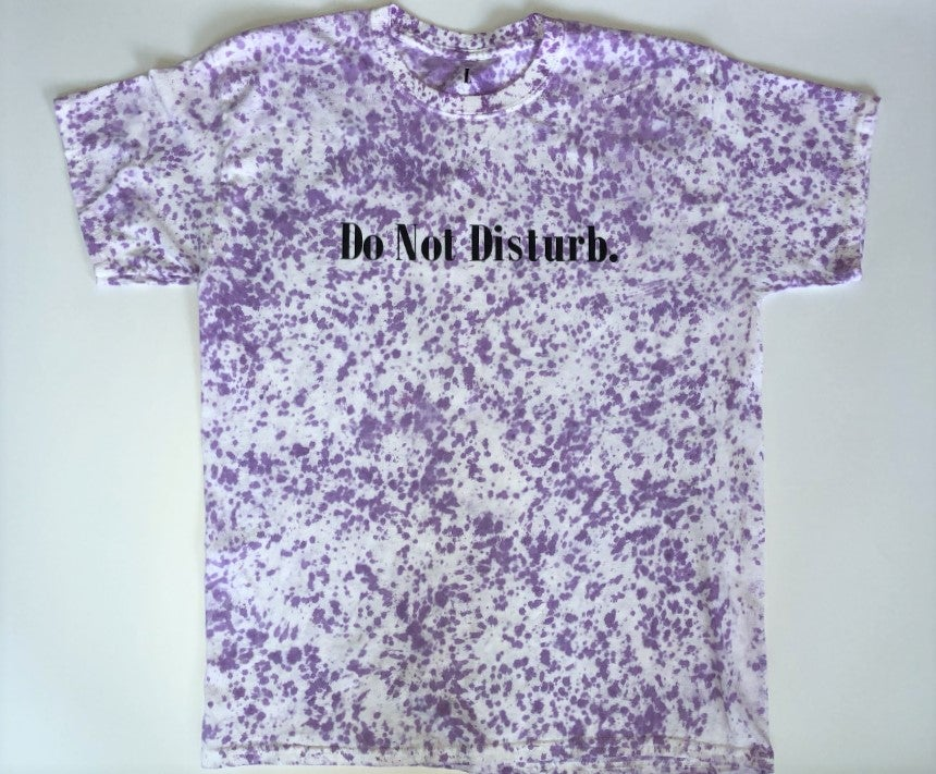 "Image of Everyday Tie Dye Do Not Disturb T Shirt ""Purple Splash"""