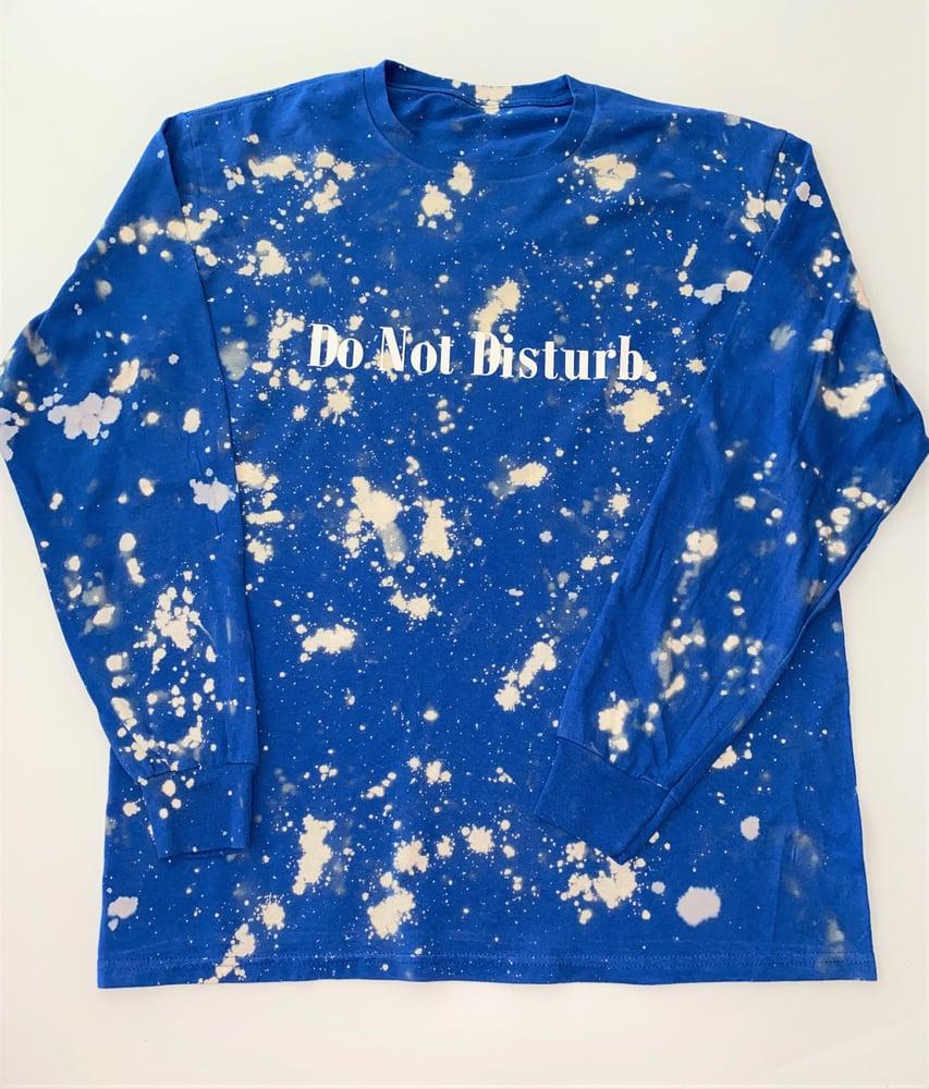 """Image of Bleach Do Not Disturb Long Sleeve T Shirt """"True  Blue"""""""