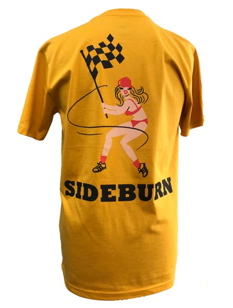 Image of Sideburn Checkers T-shirt - Mango