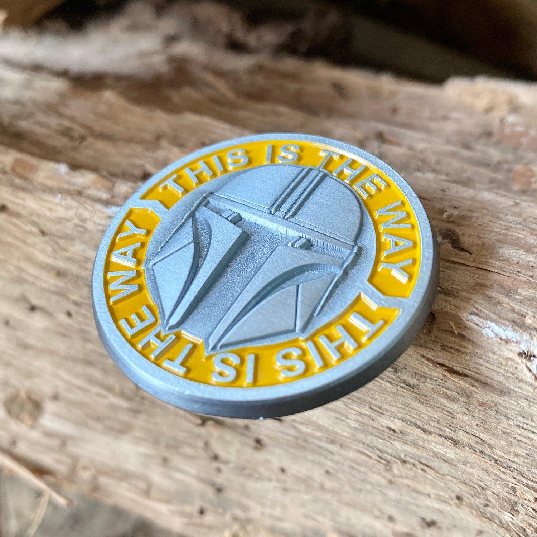 Image of ⚙️ The Mandalorian Beskar Helmet Enamel Pin