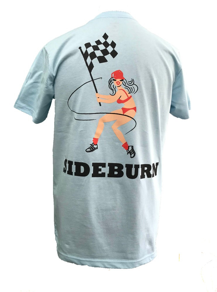 Image of Sideburn Checkers T-shirt - Blue