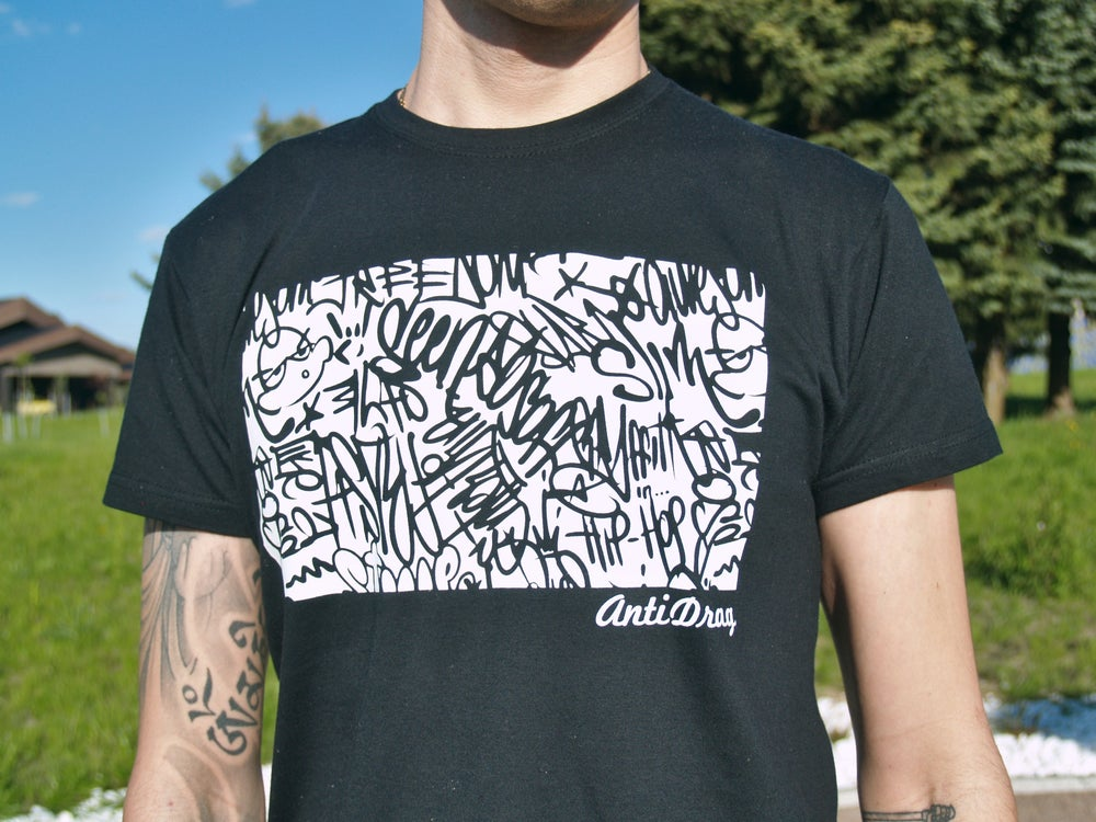 Image of Graffiti Podium Tee - Black