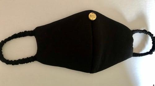 Image of Black Fabric Washable Fashion Facemask