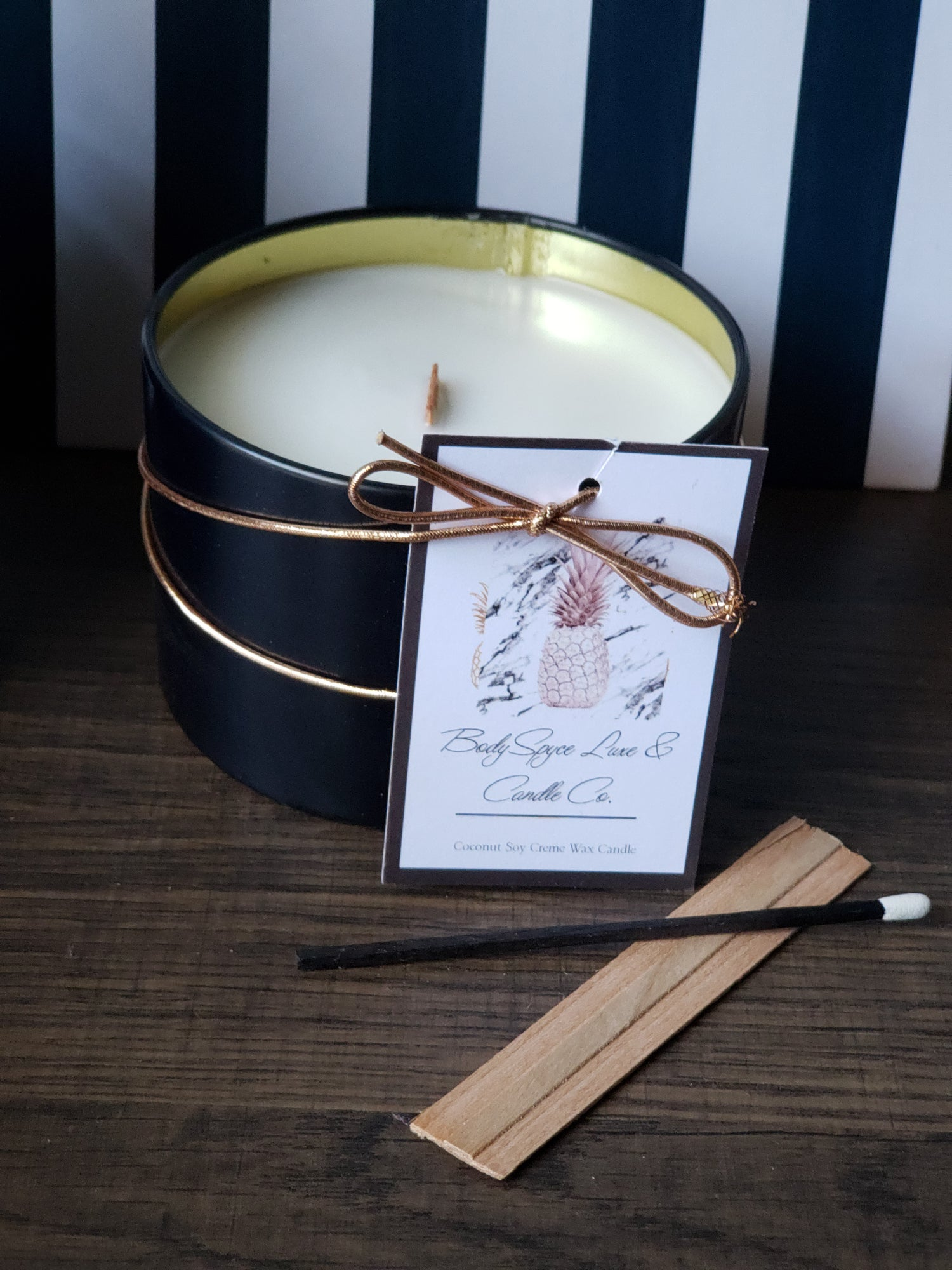 Image of HONEY + BOURBON + COCONUT CREME' SOY WAX CANDLE