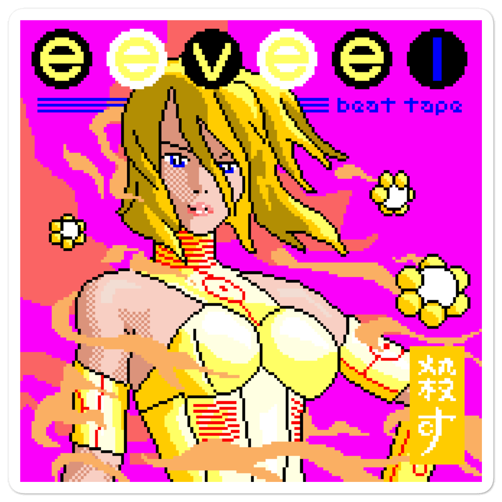 Image of eevee beat tape 1 sticker