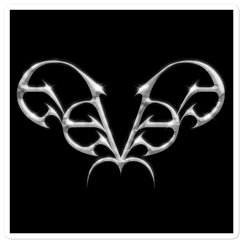 Image of eevee metal logo sticker