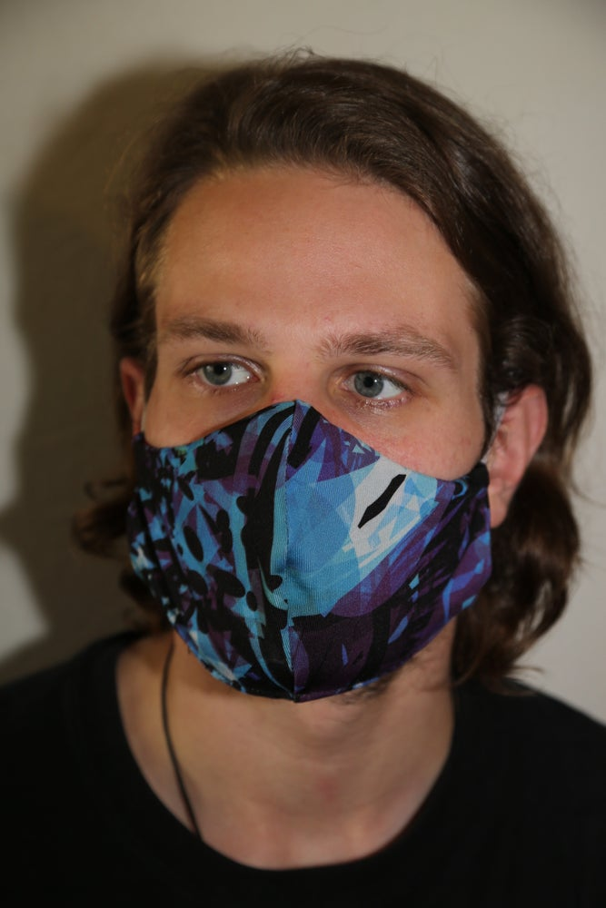 Image of PURPY Locally Made Cotton/Spandex Mask