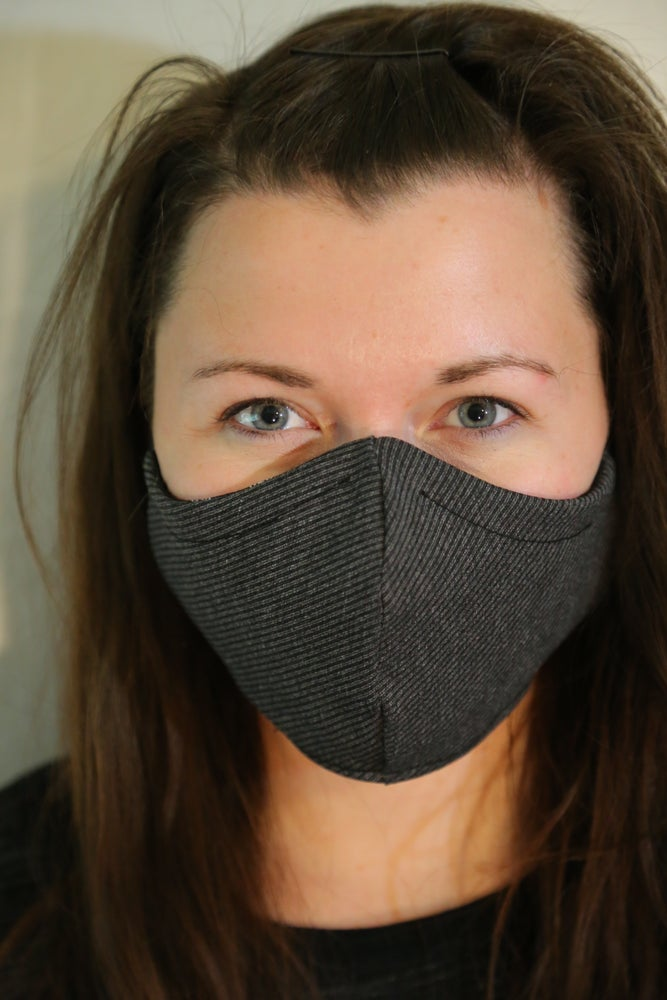 Image of Classy Grey 2 Layer Cotton Mask