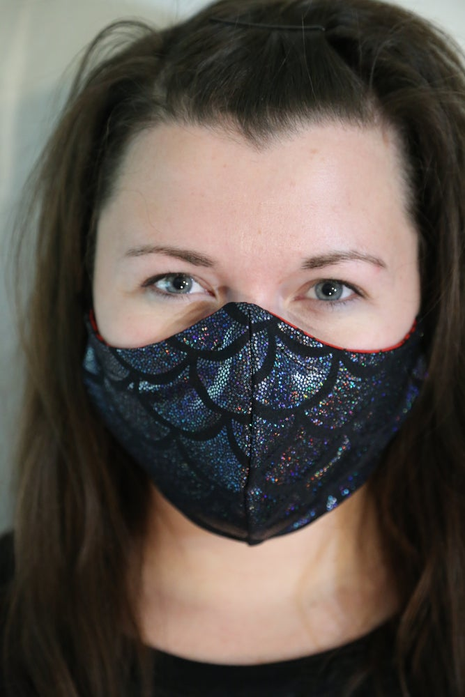 Image of Mermaid Storm Locally Made Spandex/Cotton Mask