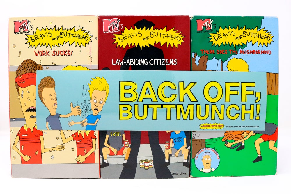 Image of Beavis and Butt-Head - Back Off Buttmunch! Bumper Sticker