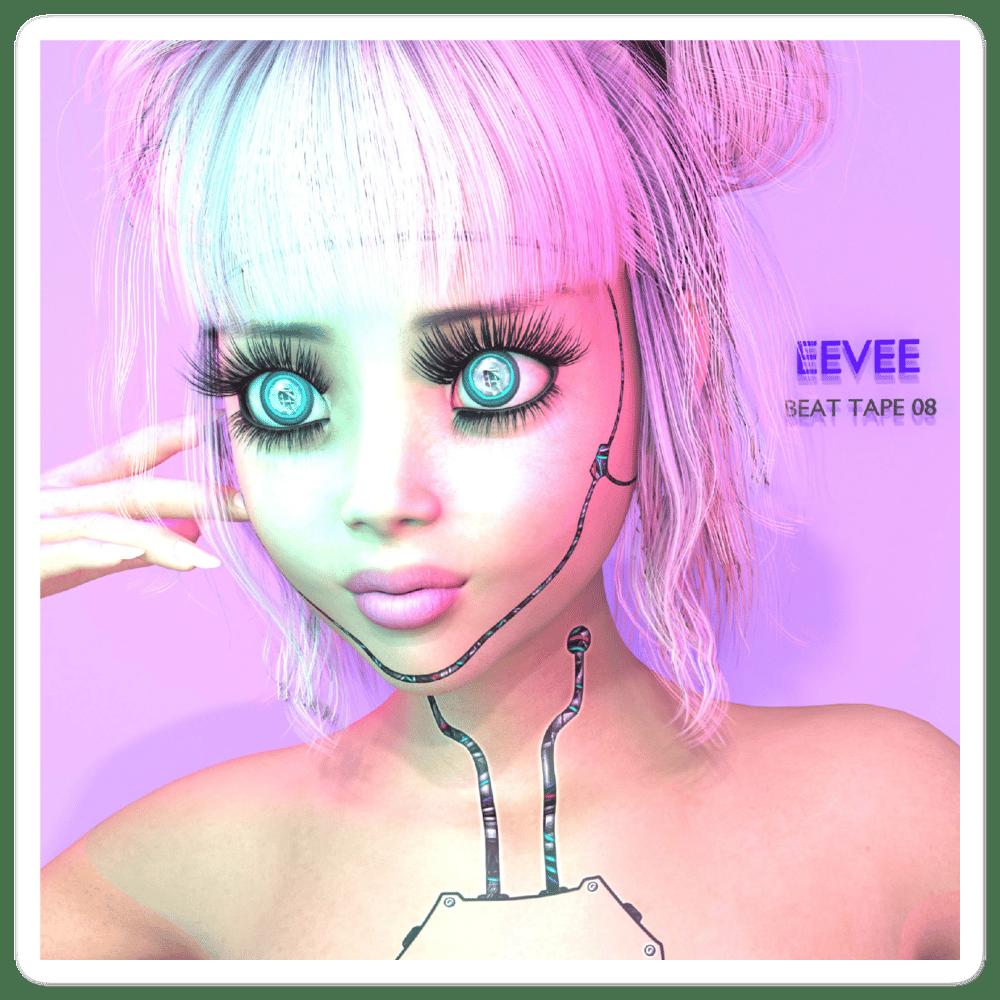 Image of eevee beat tape 08 sticker