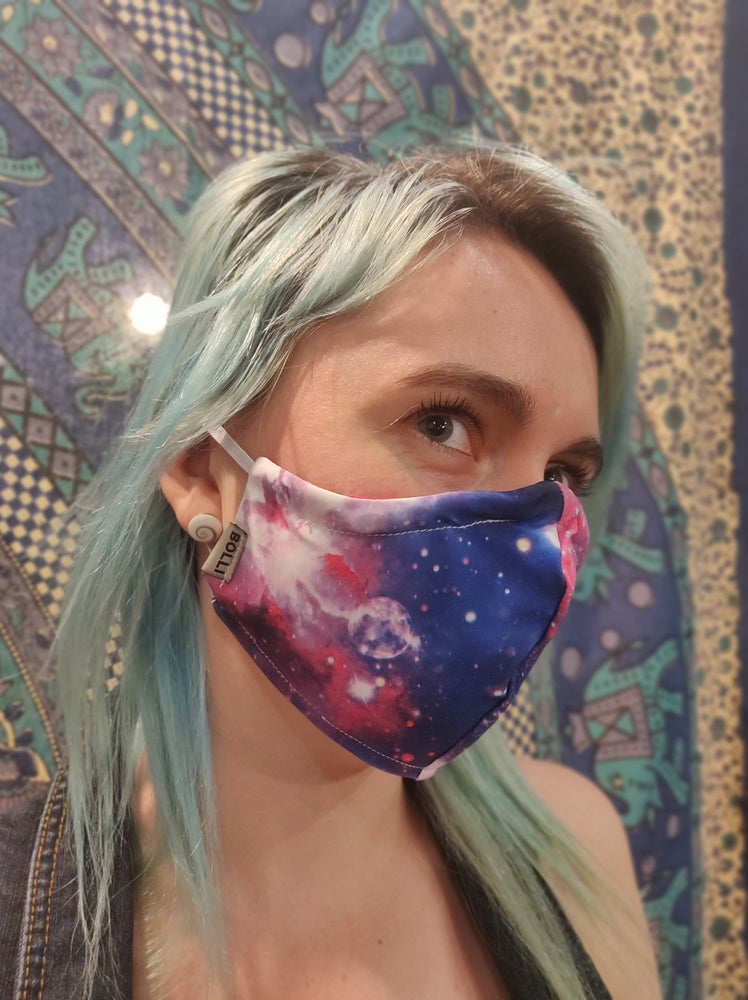 Image of Galaxy Locally Made Spandex/Cotton Mask