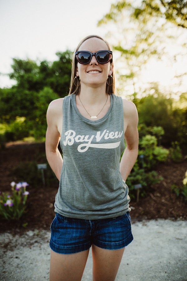 Image of Bay View Script Muscle Tank