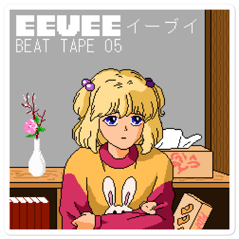 Image of eevee beat tape 05 sticker