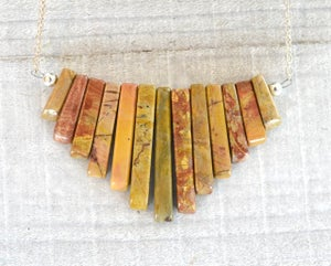 Jasper Mini Bib Necklace