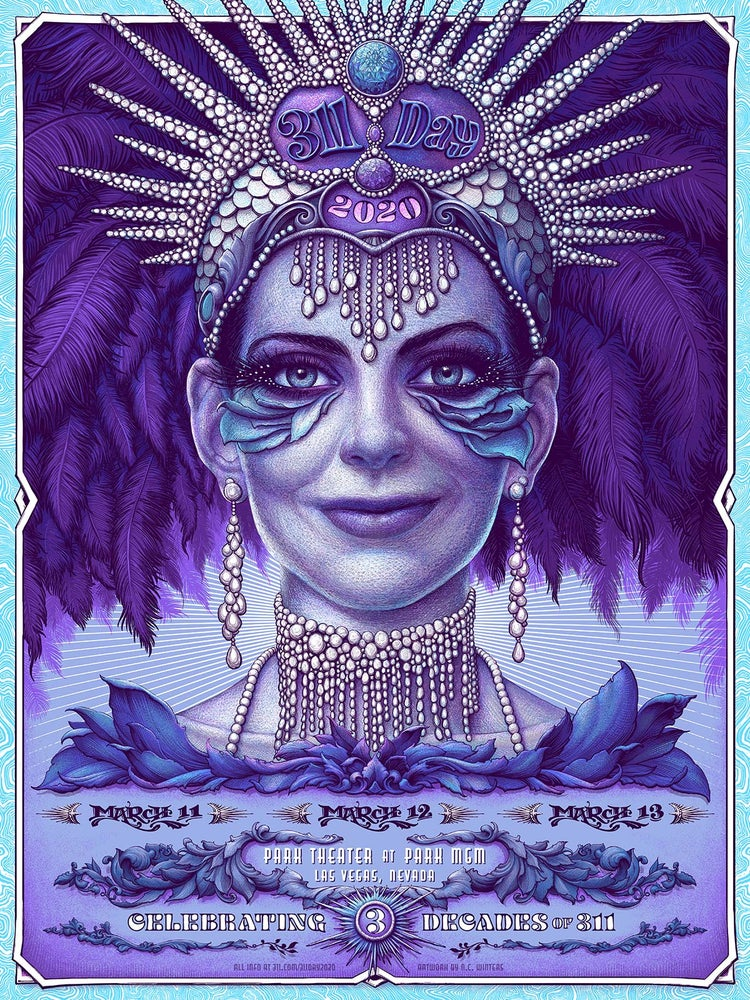 Image of 311 Day Gig Poster March 11-13 Las Vegas