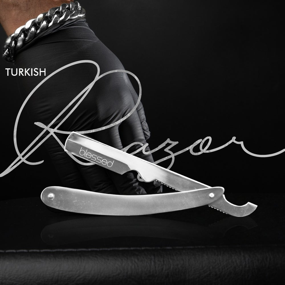 Image of Exposed Silver Turkish Razor
