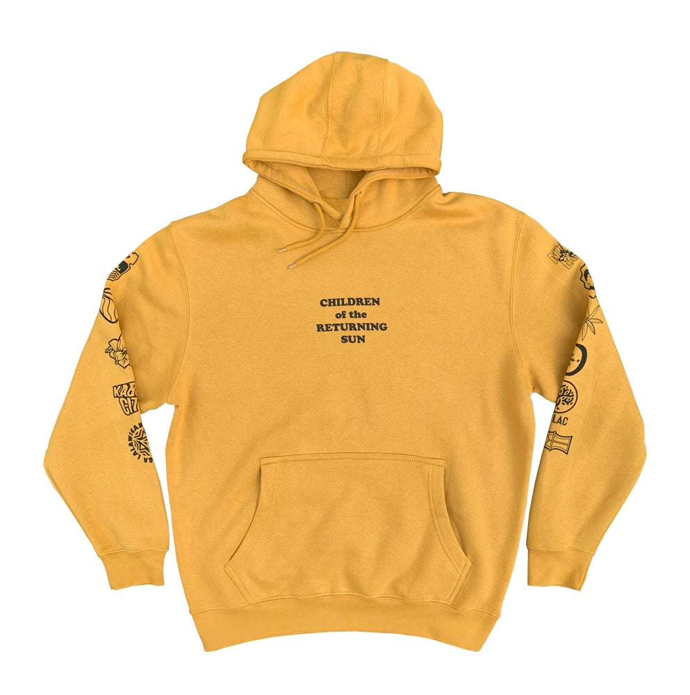 Image of Sun and Stars Hoodie - Mustard