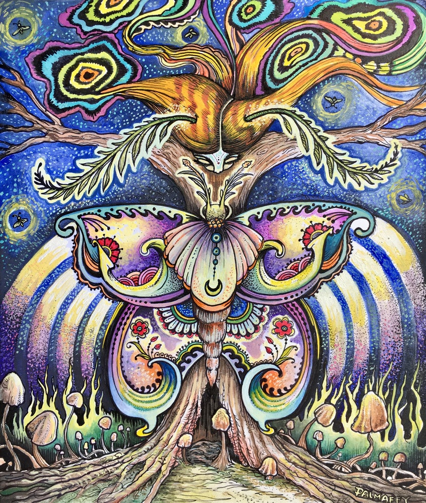 Image of Cosmic Moth Woman
