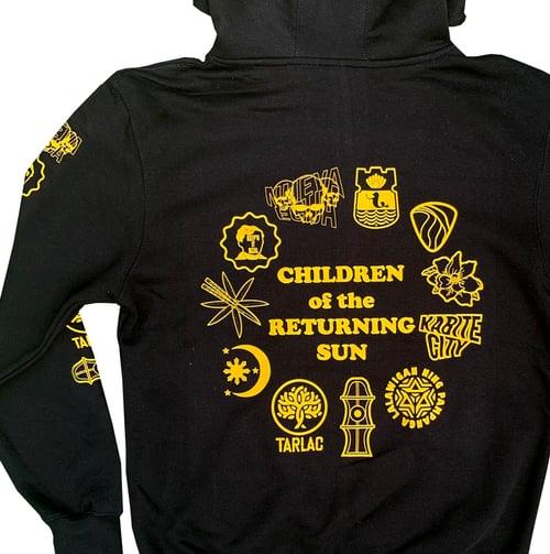 Image of Sun and Stars Hoodie - Black