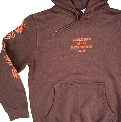 Image of Sun and Stars Hoodie - Chestnut Brown